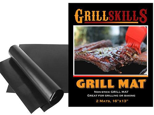 Grill Skills Grill Mat - Set of 2 Non Stick BBQ Grilling Mats