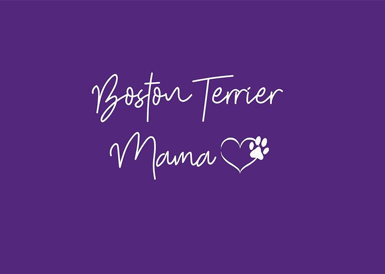 Boston Terrier Mama V-neck UniSex Tee
