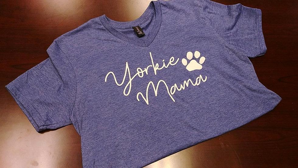 Yorkie Mama V-neck UniSex Tee