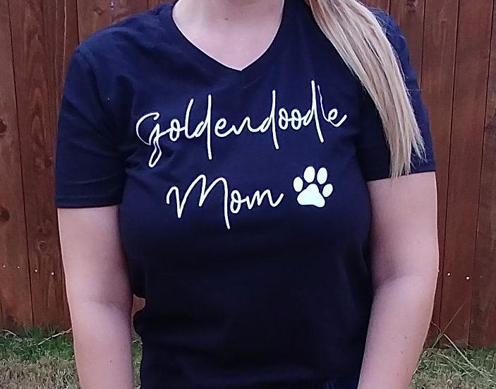 Goldendoodle Mom V-neck UniSex Tee