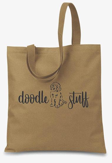 Doodle Stuff Tote Bag - Khaki