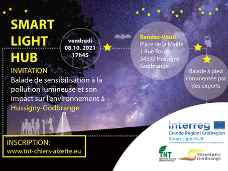 08/10/21 - Hussigny-Godbrange(FR)-Balade de sensibilisation à la pollution lumineuse