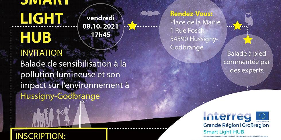 08/10- Hussigny-Godbrange (FR) - Balade de sensibilisation à la pollution lumineuse et à son impact sur l'environnement