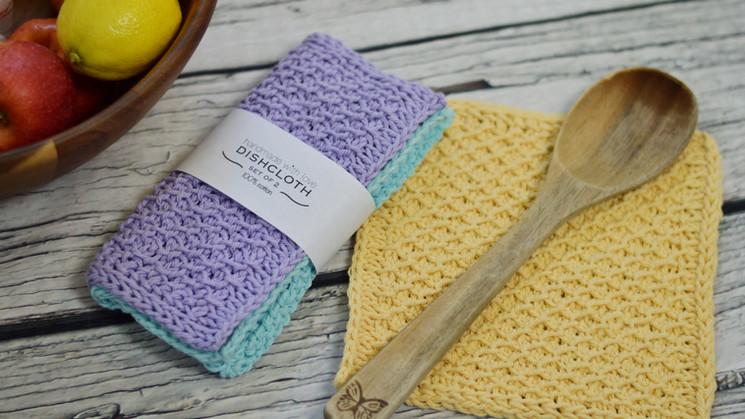 Easy Tunisian Honeycomb Dishcloth