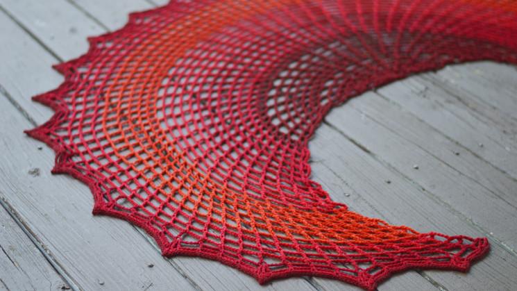 Sunset On Fire Shawl: Free Crochet Pattern