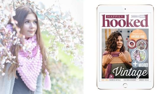 Lovely Bobble Shawl In Happily Hooked Magazine!