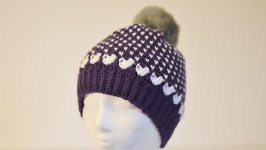 Falling In Love Beanie Free Crochet Pattern!