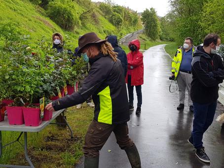 Activité « Plantons ensemble des rosiers » ou le lancement de notre parcours olfactif & sensoriel !