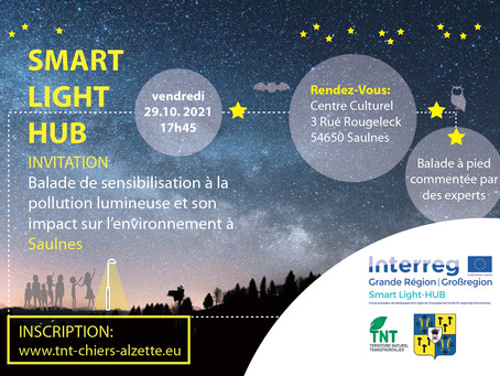 29/10/21-Saulnes(FR)- Balade de sensibilisation à la pollution lumineuse