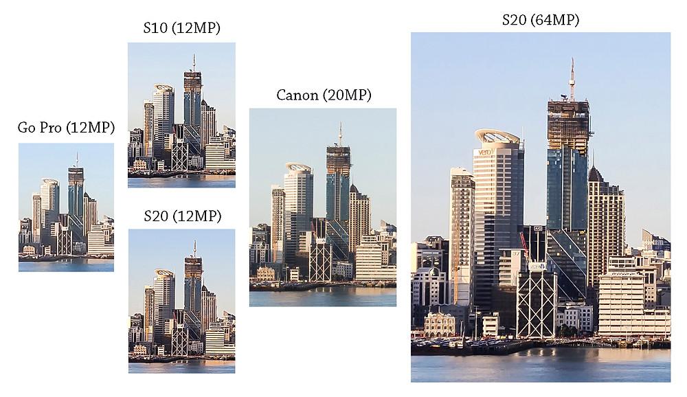 Canon 6D, Samsung S10, Samsung S20, GoPro Hero 8