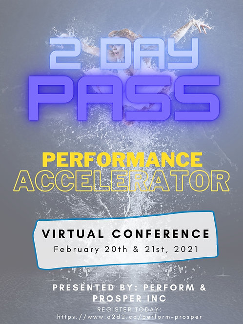 Performance Accelerator Conference- FULL 2 day pass