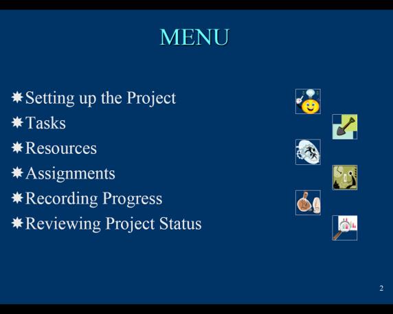 PowerPoint Menu Slide