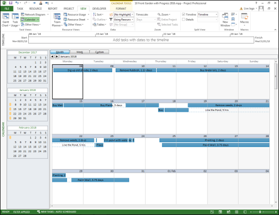 Project - Filtered Calendar