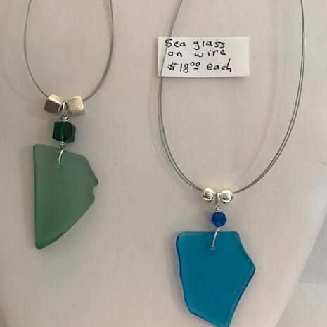 Sea Glass on Wire $18 each