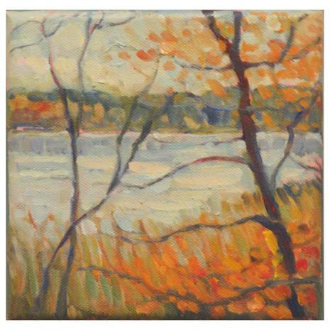 4.Pickerel Lake Study 7, oil, 6x6