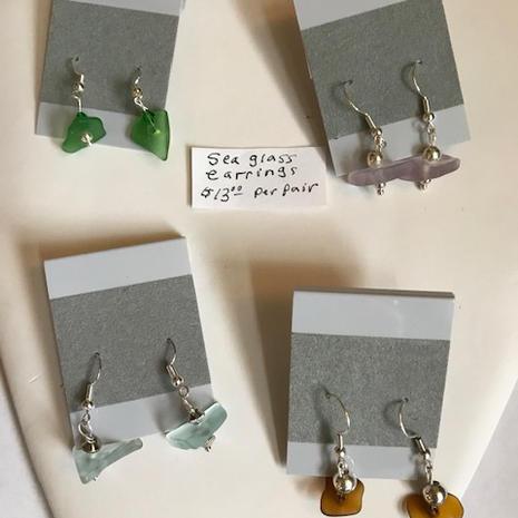 Sea Glass Earrings  $13 per pair