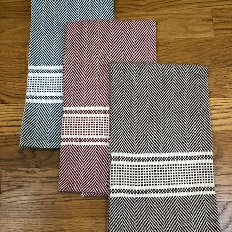 "Kitchen towels, 100% cotton, approximately 19""x25"", $30"