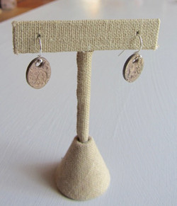 Bronze earring with sterling wire