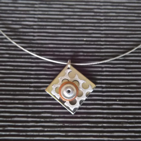 Nicklace:  Stainless steel, aluminum, copper, $24.  Additional mixed meal necklaces available.