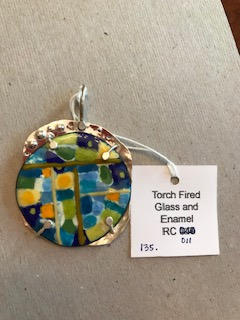 Torch fired glass and enamel RC-011. $135