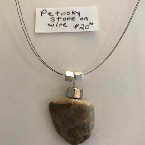 Petosky Stone on Wire  $20