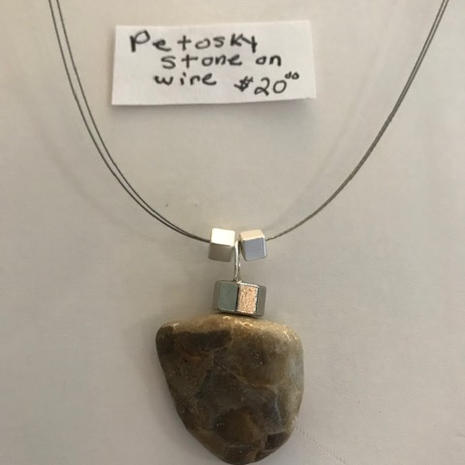 Petosky Stone on Wire  $20