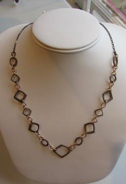 Bronze links w/ sterling chain