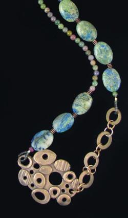Bronze necklace w/ stones