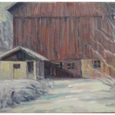 3.Barn near Rockford, oil, 7x9