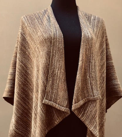 Handwoven jacket - one size fits most.  Silk, rayon and tencel.  $175