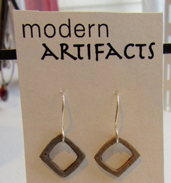 Bronze with sterling earwire