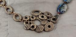 Bronze necklace w/feature piece