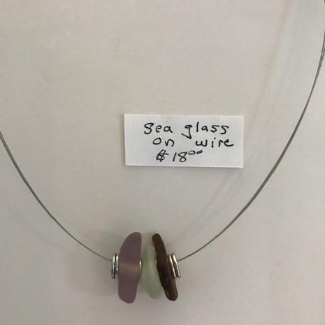 Sea Glass on Wire $18