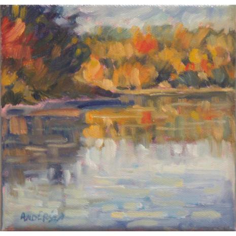 5.Pickerel Lake Study 8, 6x6,oil