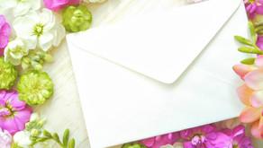 2021年9月24日 「嬉しいお手紙」が届きました!