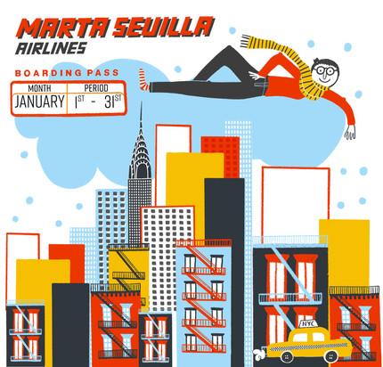 Marta Sevilla airlines / Hi NYC!
