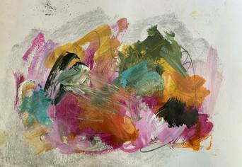 Gammes de couleurs_J2_6 2020 - Technique mixte sur papier / Mixed media on paper 20x30cm / 9x12po