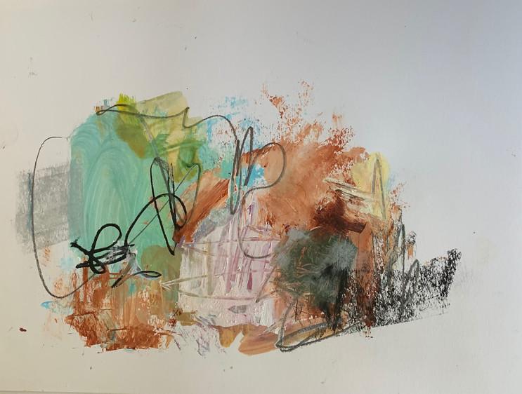 Gammes de couleurs_J1_3 2020 - Technique mixte / Mixed media 20x30cm / 9x12po