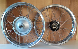Front and Rear Triumph T90 Wheels