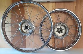 Front and Rear Kawasaki KE125 Wheels