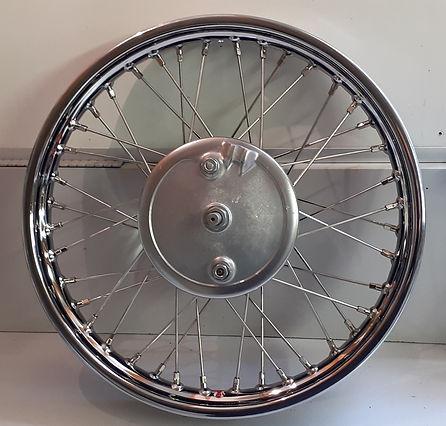 BSA C15 Front Wheel Rebuilt