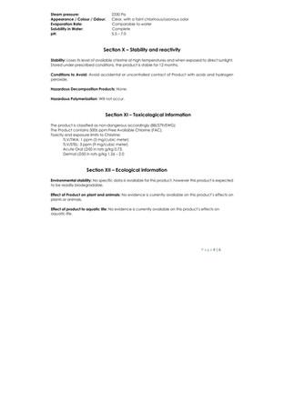 BioNaturals - ViroGold HOCL - Safety Data 4