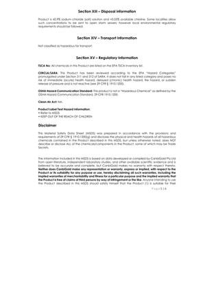 BioNaturals - ViroGold HOCL - Safety Data 5