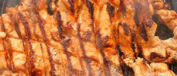 Chicken Steaks in BBQ Marinate