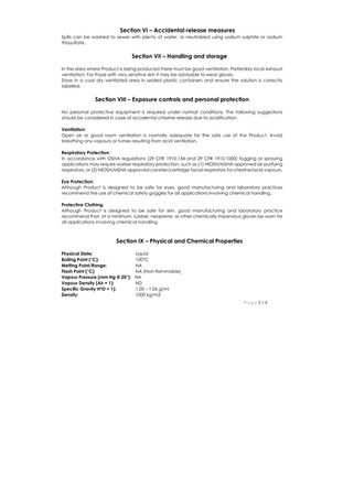 BioNaturals - ViroGold HOCL - Safety Data 3