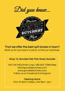 20190812 Gonubie Butchery - Flyer (Impre
