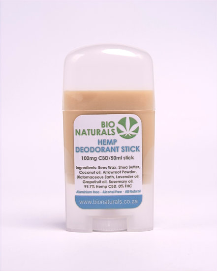 Hemp Deodorant Stick (100mg/50ml)