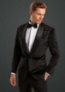 Mens Black Beaded Wedding jacket