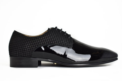 LUCA CHECKERED PATENT SHOE