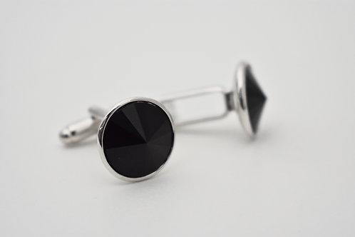 Black Swarovski Crystal Cufflinks